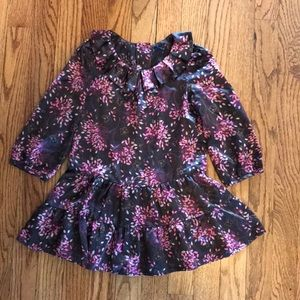 Gap 3T Brown Pink Floral Dress